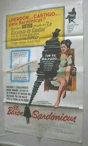 Filmplakat,Plakat,EL BARON SARDONICUS,MR SADONICUS,AUDREY DALTON,GUY ROLFE, #179