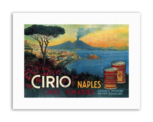 TOMATOES CIRIO CANNED FOOD UK VESUVIUS VOLCANO Poster Vintage Canvas art Prints
