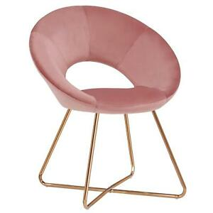 Prime Details About Millennial Blush Pink Modern Retro Velvet Dining Chair W Gold Copper Metal Legs Uwap Interior Chair Design Uwaporg