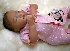 "silicone reborn baby doll 20"" lifelike soft vinyl Real Babies dolls Full Real"