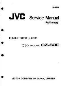 Trendmarkierung Jvc Original Service Manual Für Gz-s 3e SpäTester Style-Online-Verkauf Von 2019 50% Tv, Video & Audio