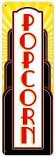 Retro Movie Cinema Theater Deco Popcorn Metal Sign 8x24 Unique Wall Decor RPC265