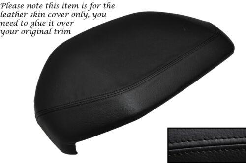 BLACK Stitch DASH CAPPUCCIO HOOD cuoio pelle copertura si adatta LAND ROVER FREELANDER 98-06