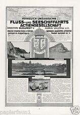 Schiffahrt Donau Ungarn Budapest XL Reklame von 1916 Dampfschiff Gesellschaft Ad