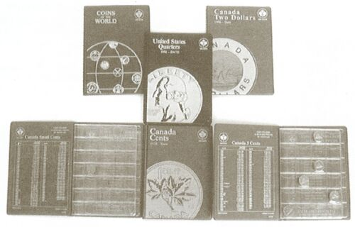 No Dates United States USA Quarters 25¢ Blank Unisafe Coin Folder Album #124