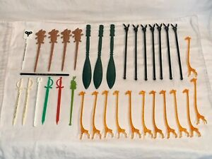 Lot-34-vintage-SWIZZLE-Stir-Sticks-PLAYBOY-TWA-Airline-ORANGE-GIRAFFE-Trader-Vic