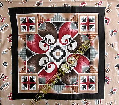 Christmas Santa Rose Printed On Fabric Panel Make A Cushion Upholstery Craft