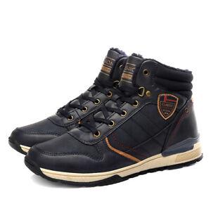 Winter Plush Men High-top Skateboard Shoes Comfortable Outdoor Run Snow Sneakers