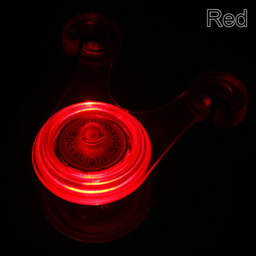 Bicycle Silicone Spoke Seat Hanging LED Rear Light Safety Night Cycle Tail Lamp