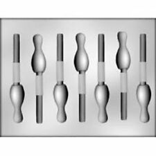 Bowling Pin Chocolate Sucker Candy  Mold  Team Sports Strike Party Child Adult