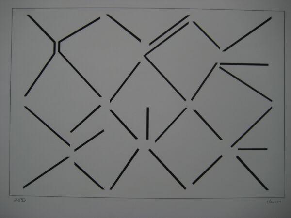 100% De Qualité Claisse GeneviÈve SÉrigraphie SignÉe Crayon Num/30 Handsigned Num/30 Silkscreen