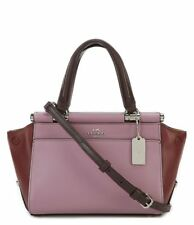 Coach Grace 20 Colorblock Multi Purple Silver Hardware Leather Bag Handbag Nwt