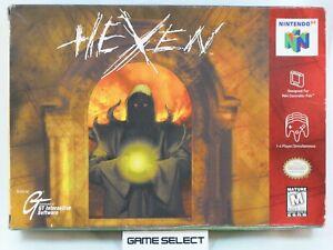 HEXEN dai creatori di DOOM NINTENDO 64 N64 NTSC USA AMERICANO ORIGINALE COMPLETO