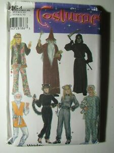 Adult Cat Ninja Mouse XS-XL Sewing Pattern Simplicity 4454 OOP