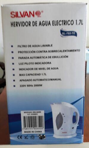 HERVIDOR DE AGUA  ELECTRICO INALÁMBRICO 1,7 LITROS SILVANO