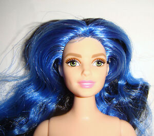 Blue hair with Nude
