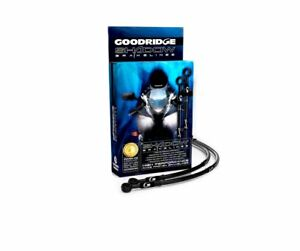 Goodridge GOLD For Kawasaki ZX10R 07 Race Front SS Braided Brake Lines Hoses