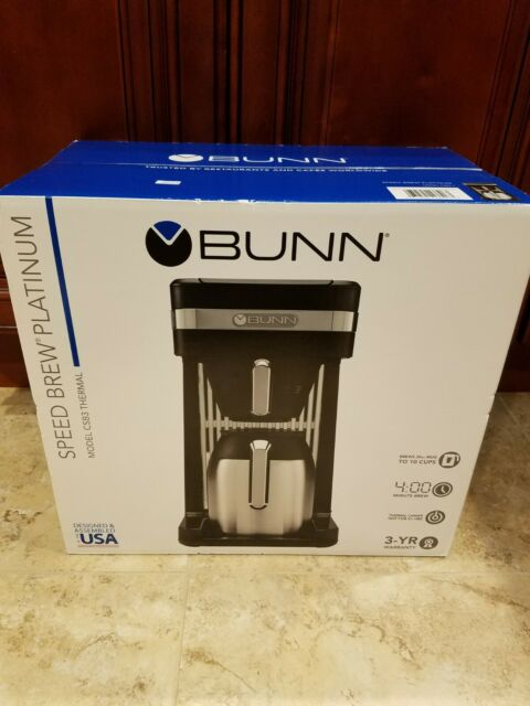 Brand New/Sealed BUNN CSB3T Speed Brew Platinum Coffee Maker, Black, 10 Cup
