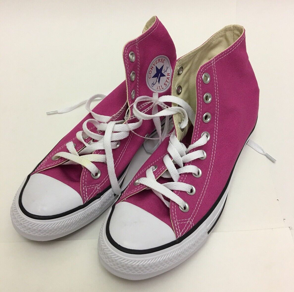 CONVERSE CT HI AS CHUCK TAYLOR ALL STAR CANVAS 151873F PLASTIC PINK/WHITE Sz 7