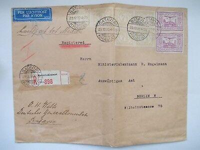 !! Seltener Brief Holland Niederländisch Indien Nach Deutschland 1932 !! 436 Feines Handwerk