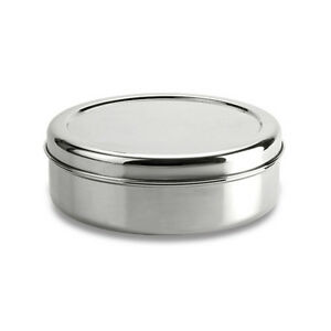 Stainless-Steel-Cake-Storage-Tin-Canister-Container-Puri-dabba-High-Grade