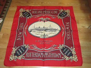 VINTAGE-HOLLAND-AMERICAN-NIEUW-AMSTERDAM-SCARF-34-034-square