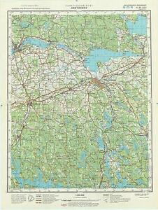 Russian Soviet Military Topographic Map LINKOPING Sweden 1200