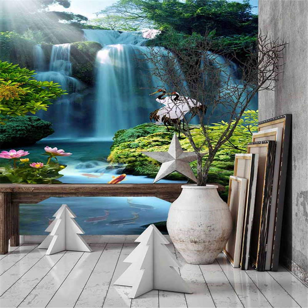 Fall Water Station 3D Full Wall Mural Photo Wallpaper Printing Home Kids Decor