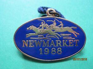 Newmarket-Horse-Racing-Members-Badge-1988-VGC