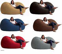 6 Or 7' Bean Bag Sofa Large Oversize Lounger Loveseat Chair Xl Memory Foam