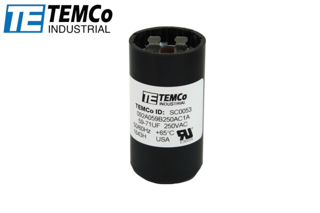 Temco AC Electric Motor Start Capacitor - SC0053 | eBay on run capacitor test, run capacitor sizing, run capacitor capacitor, capacitor circuit diagram, coleman rv ac parts diagram, capacitor installation diagram, cscr motor diagram, permanent split capacitor diagram, run capacitor wiring colors, ac motor winding diagram, potential start relay diagram, run capacitor connections, run capacitors replacement guide, ac capacitor diagram, run and start capacitors, simple capacitor diagram, psc motor diagram, 240v motor run capacitor diagram, single phase motor winding diagram, run capacitor air conditioner,