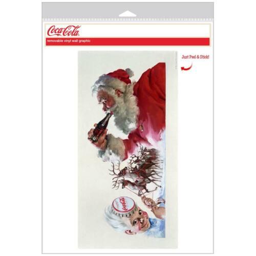 Details about  /Coca-Cola Santa Sprite Boy Reindeer Decal Peel /& Stick Graphic