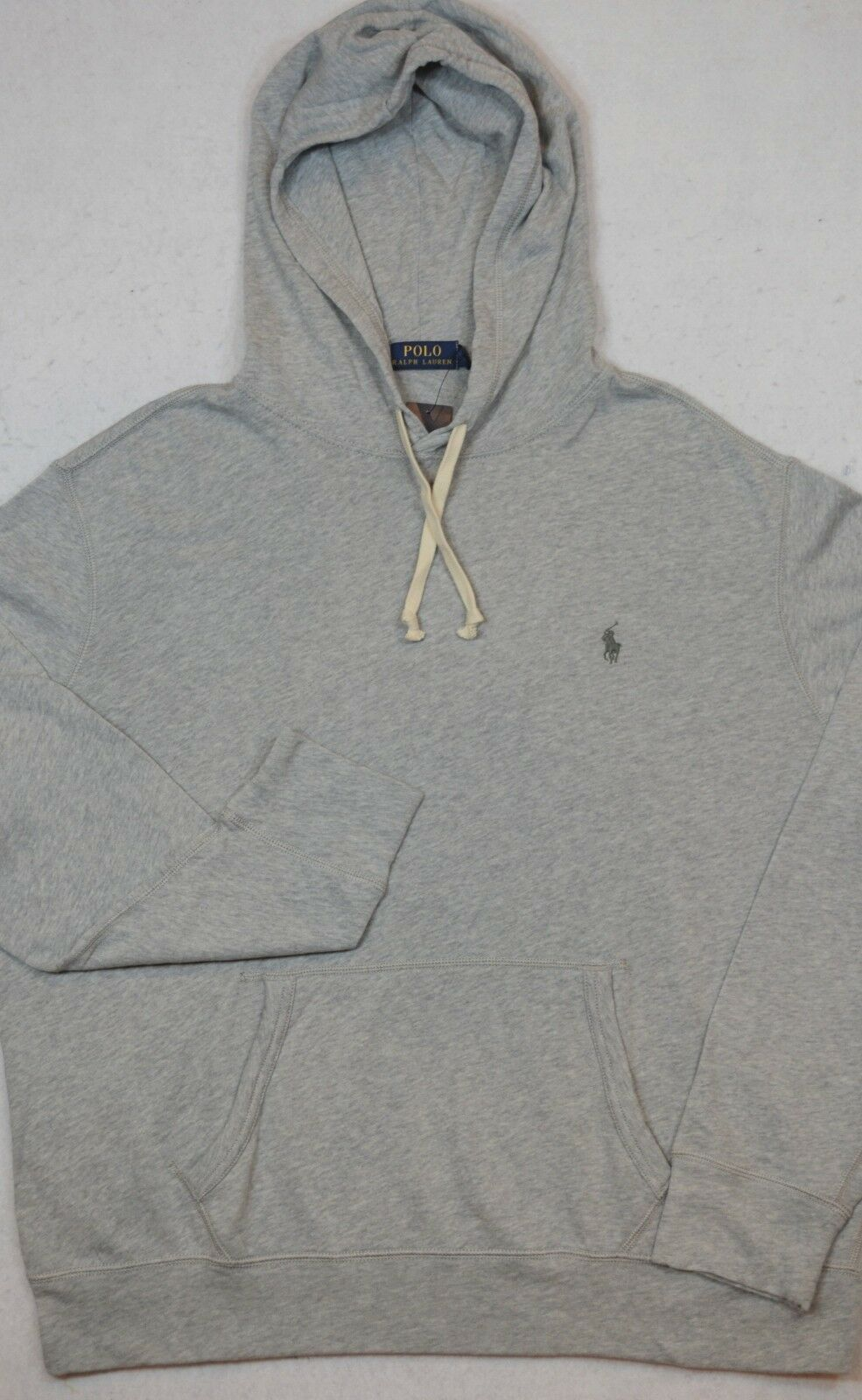 Polo Ralph Lauren Hoodie Lightweight Hooded French Terry Sweatshirt grau L NWT