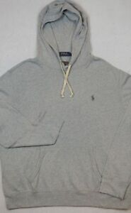 Polo Ralph Lauren Hoodie Lightweight Hooded French Terry Sweatshirt Gray L NWT