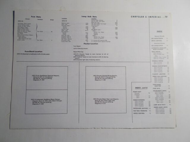 1972 1973 Motor Chrysler  U0026 Imperial Vacuum  U0026 Wiring Diagrams