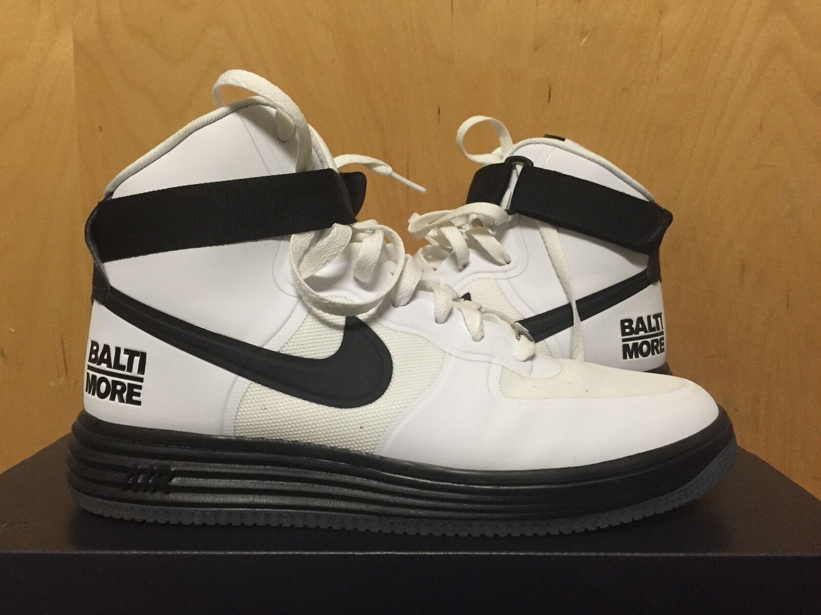 Nike  Lunar Force 1 HYP HI CITY QS (Baltimore) Size 10  617899-100
