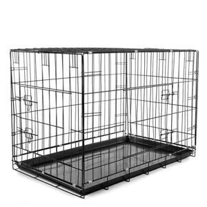 Hundetransportbox-Hundekaefig-Transportkaefig-Transportbox-Kaefig-Kennel-Groesse-L