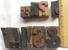 Lot 13 Wooden Block Type Symbols Punctuation Measure 1 To 2 Tall