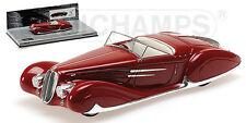 MINICHAMPS 437116130 - Delahaye Type 165 cabriolet 1939 rouge  1/43