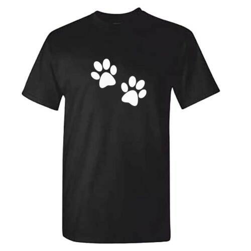 2 Paw Prints Tshirt - Unisex Mens Funny Dog Clothing - Labrador Staff Dachshund hot sale