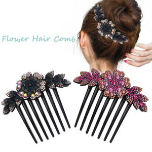 Women-Flower-Hair-Comb-Pin-Slide-Clip-Hair-Barrettes-Bridal-Hair-Accessories-HOT