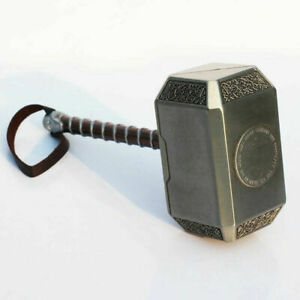 Avengers-4-Thor-039-s-Metal-Hammer-Avengers-Marvel-Gift-Stand-Toy-Cosplay-In-Stock