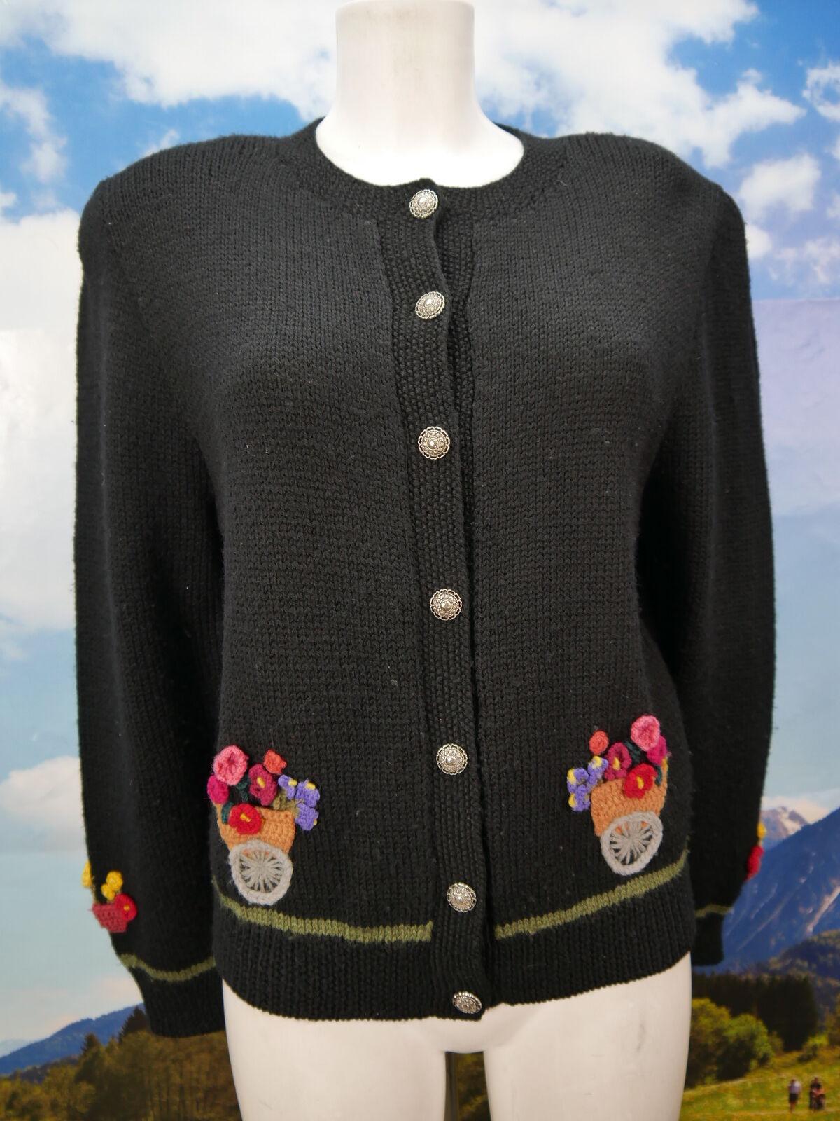 b4522dada0219c Exclusive Handarbeit viel Besatz schwarz Jacke Gr.40 Strickjacke  Trachtenjacke npftus1777-neue Kleidung