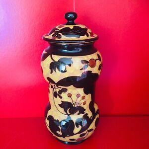 antico-vaso-originale-MAZZOTTI-Albissola-albarello-Art-Deco-anni-60-PERFETTO