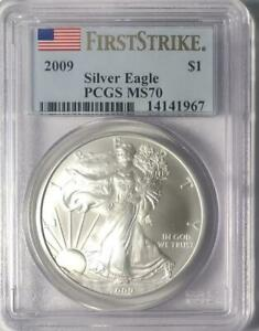 2009 American Silver Eagle - PCGS MS-70 - Mint Sate 70