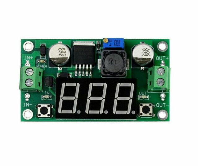 1P DC DC Buck Step Down Converter Module LM2596 Voltage Regulator Led Voltmeter