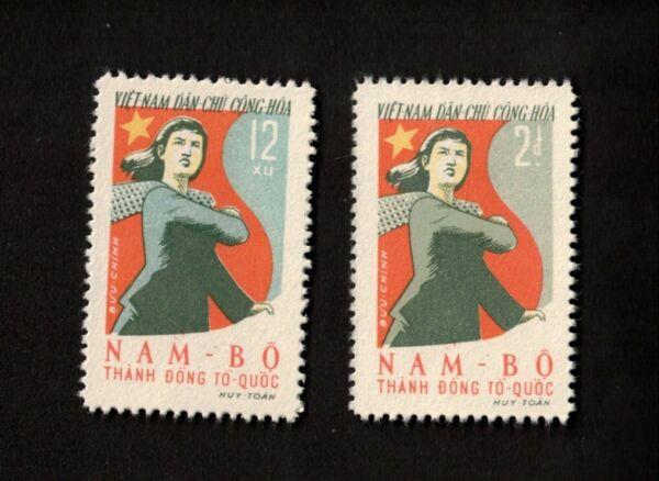 1961 Vietnam Timbres Sc # 164, 165 100% De MatéRiaux De Haute Qualité