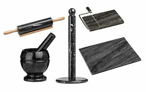 Details about Black Marble Kitchen Accessories Tools Cheese Slicer Rolling  Pin Chopping Board