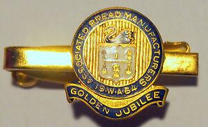 1964-WA-Associated-Bread-Manufacturers-Golden-Jubilee-Metal-Enamel-Tie-Clip