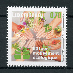 Luxembourg-2018-MNH-Mouvement-Ecologique-1v-Set-Nature-Environment-Stamps